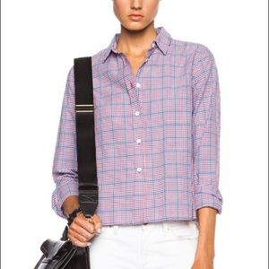 Band of Outsiders Cropped and Boxy Shirt Checked 1